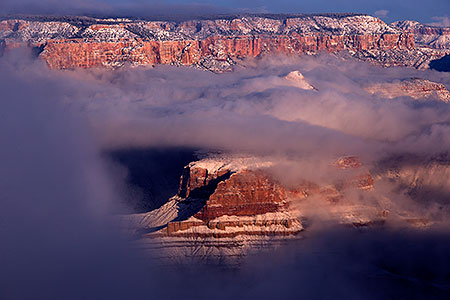Grand Canyon morning fog, Arizona