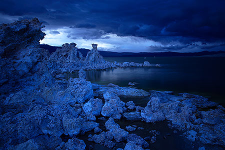 Mono Lake in twilight in California