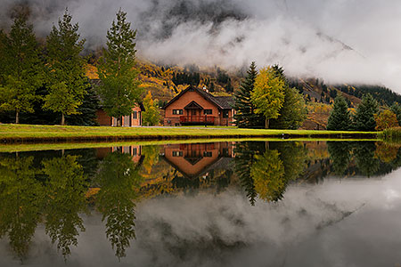 House reflection in Crested Butte