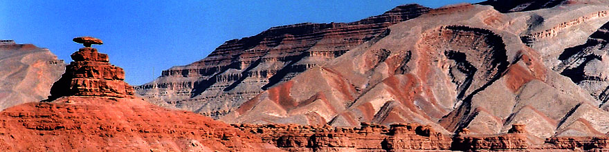 /images/500/2002-06-mexican-hat-mon-sp.jpg - #00975: Mexican Hat rock formation … June 2002 -- Mexican Hat, Utah