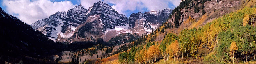 /images/500/2004-09-maroon-view1-sp.jpg - #02201: Maroon Bells in fall … Sept 2004 -- Maroon Peak, Maroon Bells, Colorado