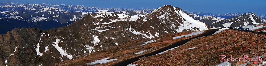 /images/500/2007-06-17-evans-road-top1-sp.jpg - #03950: images of road of Mt Evans at 13,500 ft  … June 2007 -- Mount Evans Road, Mt Evans, Colorado