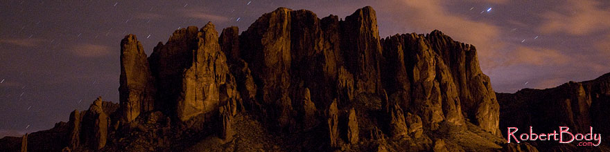 /images/500/2008-08-30-supers-mtn-22867sp.jpg - #05804: Stars over Superstition Mountain … August 2008 -- Apache Trail Road, Superstitions, Arizona