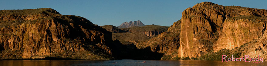 /images/500/2008-09-01-supers-canyon-lk-23059sp.jpg - #05803: Canyon Lake in Superstitions, with Four Peaks mountain in the center … September 2008 -- Canyon Lake, Superstitions, Arizona