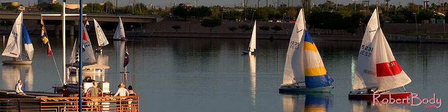 /images/500/2008-10-19-tempe-sailboats-36349sp.jpg - #05958: Sailboats by North Bank Boat Landing at Tempe Town Lake … October 2008 -- Tempe Town Lake, Tempe, Arizona