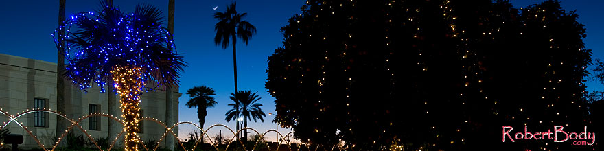 /images/500/2008-12-29-mesa-temple-lights-69142sp.jpg - #06660: Christmas decorations by Mesa Arizona Temple … December 2008 -- Mesa Arizona Temple, Mesa, Arizona
