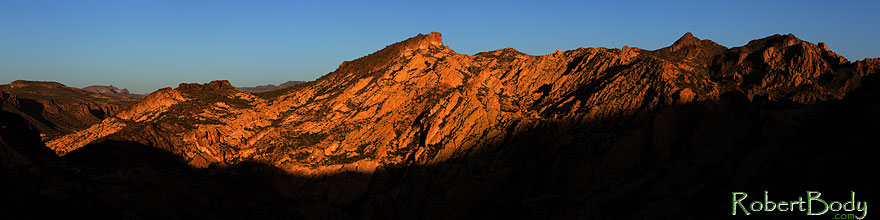 /images/500/2013-04-14-supers-mtns-4in1-36497sp.jpg - #11042: Apache Trail mountains in the evening … April 2013 -- Apache Trail Road, Superstitions, Arizona