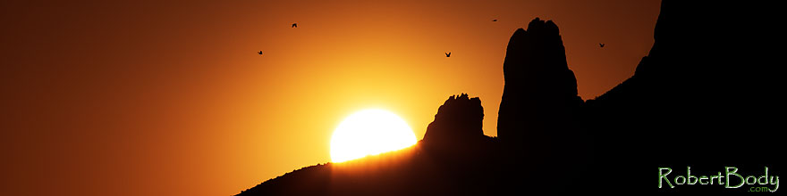 /images/500/2013-05-13-supers-sun-59_60ph-40058sp.jpg - #11100: Birds flying at sunrise in Superstitions … May 2013 -- Apache Trail Road, Superstitions, Arizona