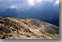 view down from Krivan mountain … July 2002 … Krivan, Vysoke Tatry, Slovakia