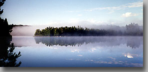 Morning on Rabbit Lake … August 1997 … Temagami, Ontario, Canada