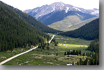 road from Twin Lakes to Independence Pass, Colorado